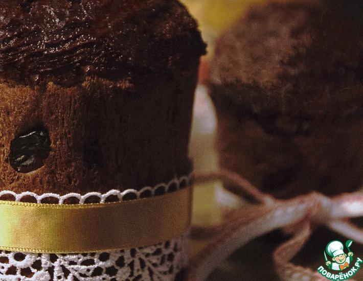 Пряный кулич с шоколадом и клюквой