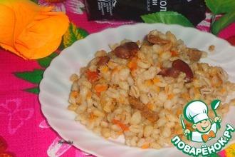 Перловка с фасолью и овощами