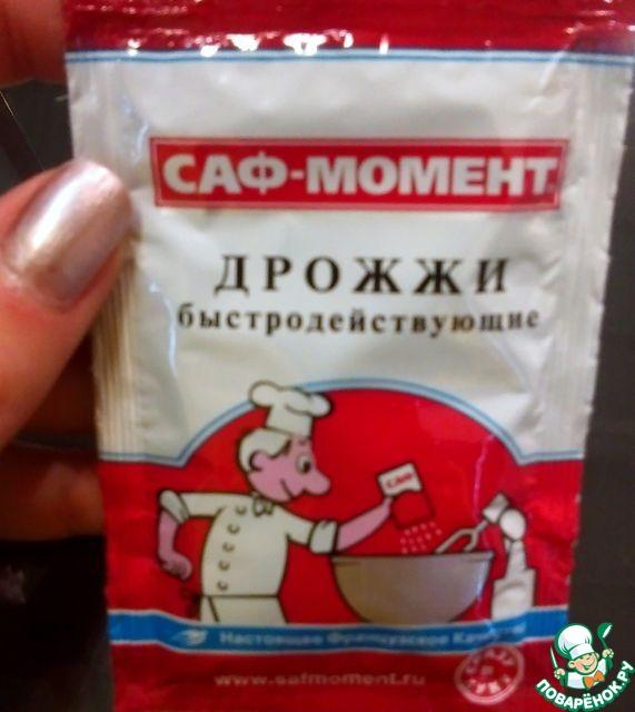 """Отмерять 2 чайные ложки сухих дрожжей ТМ """" Саф-момент"""""""