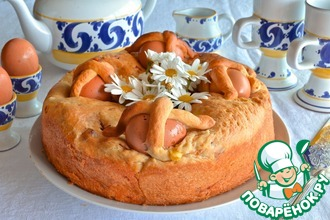 """Неаполитанский пасхальный пирог """"Касатьелло"""""""