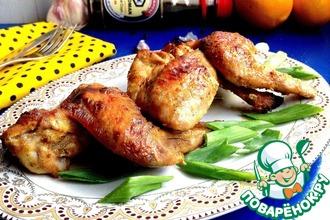 Куриные крылья в сметанно-горчичном соусе