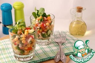 Весенний салат с нутом