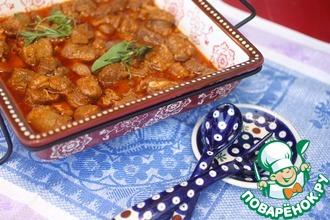 Рагу из трех видов мяса в азиатском стиле