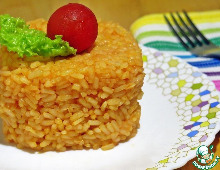 """Гарнир """"Томатный рис с сыром"""""""