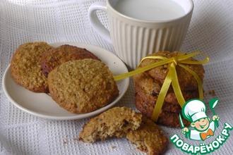 Овсяное печенье с клюквой, шоколадом и орехами