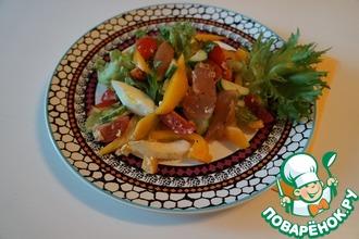 Легкий салат с карпаччо из курицы