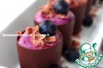 Черничный мини-десерт