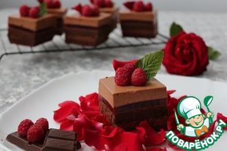 """Пирожные """"Шоколадно-малиновое удовольствие"""""""