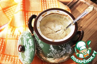 Каша из рисовых хлопьев, запеченная в горшочке