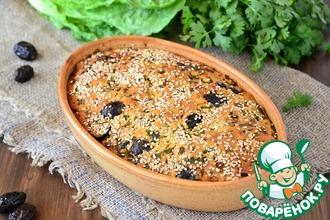 Кипрский пирог с маслинами и зеленью