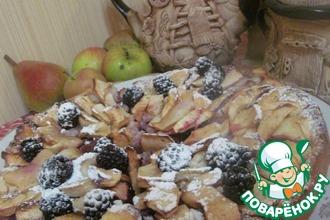 Яблочно-кизиловый пирог с заварным кремом
