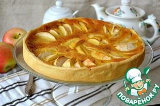 Яблочный пирог с карамельным кремом