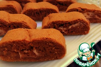 Кофейное печенье с шоколадной начинкой