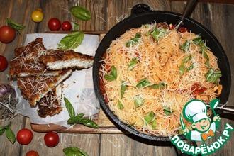 Курица миланьезе со спагетти от Джейми Оливера