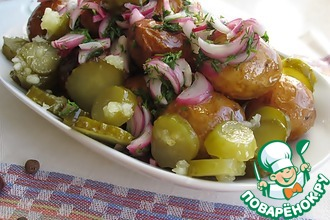 Картофель по-датски в глянцевой карамели