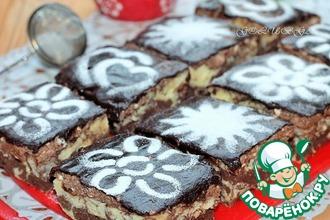 Пирожные с творожно-шоколадным кремом в СВЧ