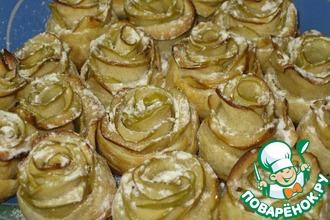 """Яблочные пирожные """"Белые розы"""""""