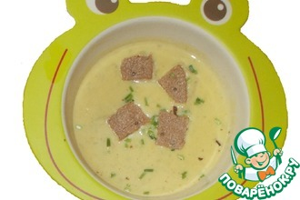 Крем-суп с брынзой и зеленым луком