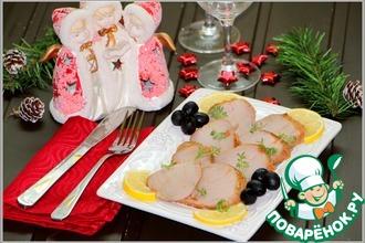 Нарезка для праздника из маринованной свинины