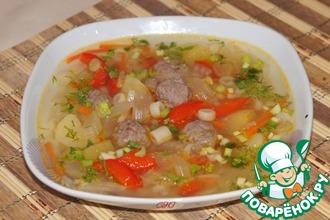 Овощной суп с фенхелем и фрикадельками