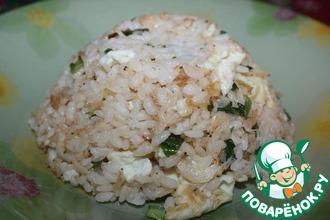 Жареный рис с сушеными креветками