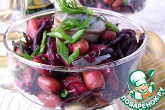 Пикантный салат из свеклы и сельди