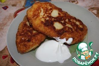 Картопляники с куриным фаршем и сыром