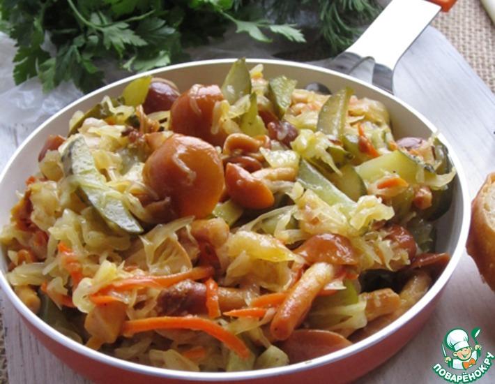 Закуска из квашеной капусты