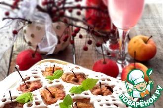 """Яблочный пирог с шампанским """"Новогодняя сказка"""""""