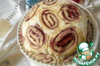 Торт бисквитный с творогом