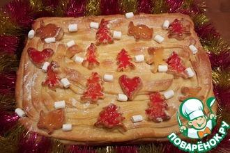 """Новогодний сладкий пирог """"Ёлки в платьях"""""""