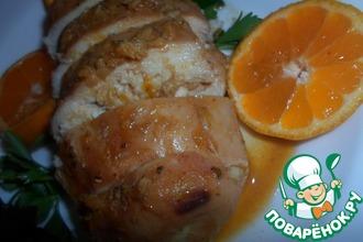 Куриная грудка, запеченная в мандариновом соке