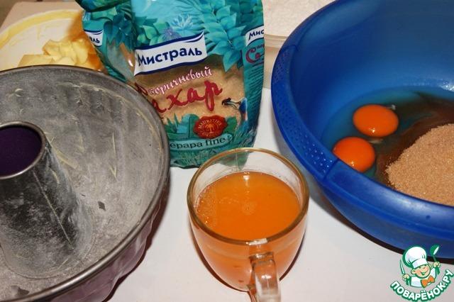 Все продукты необходимо взвесить и отмерить заранее.    Просеять вместе муку, разрыхлитель и ваниль.