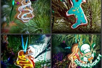 Новогоднее печенье-игрушки на елку