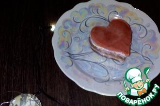 """Шоколадно-вишневое пирожное """"Для любимого"""""""