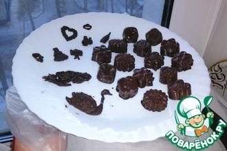 Шоколадные конфеты с начинкой из горького шоколада