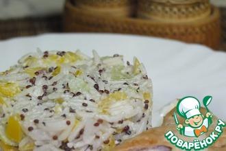 Салат с индейкой и рисом