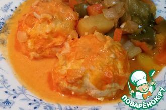 Куриные тефтели в томатно-сливочном соусе
