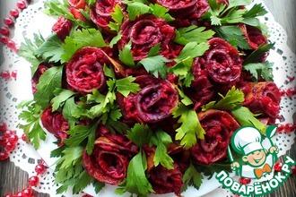 "Салат ""Букет роз"""