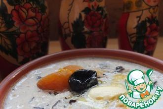 Суп молочный с сухофруктами