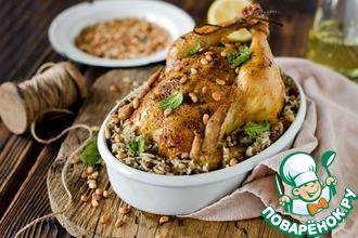 Курица, фаршированная рисом и фаршем