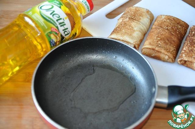 """На сковороду наливаем подсолнечное масло с добавлением оливкового от """"Олейна"""" (1 ст. ложку)."""
