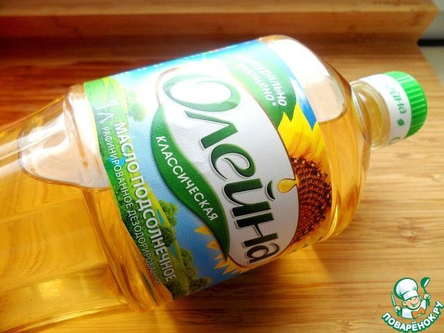 Для этого блюда я буду использовать растительное масло ТМ Олейна