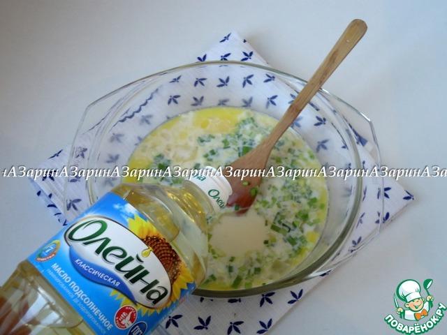 Добавить нарубленный мелко лук и растительное масло «Олейна».