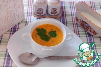 Сливочный суп с рисом и кабачками