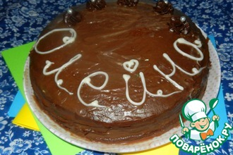 Блинный шоколадный торт