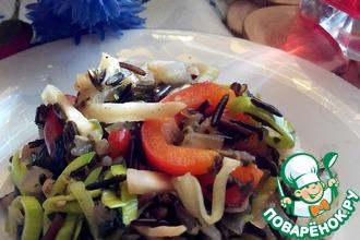 Гарнир овощной с диким рисом