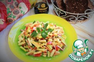 Овощной салат с кабачками