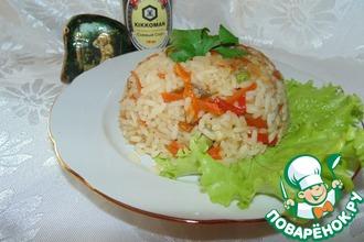 Рис с соевым соусом и овощами