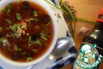 Чечевичный суп с оливками
